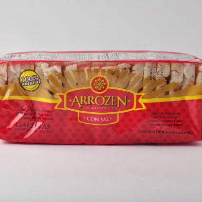 GALLETAS ARROZ C/SAL 110GR ARROZEN