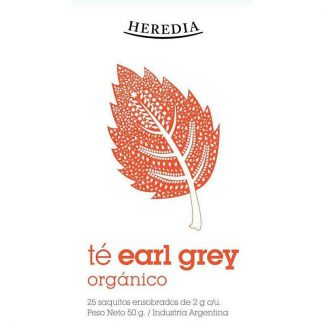 TÉ HEREDIA EARL GREY ORGÁNICO 25 SAQUITOS
