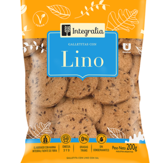 GALLETITAS CON LINO X 200GR INTEGRALIA