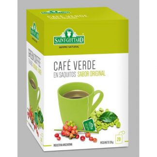 CAFE VERDE  20 SAQUITOS SAINT GOTTARD