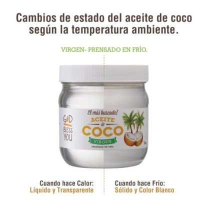 ACEITE DE COCO VIRGEN 125ML GOD BLESS YOU