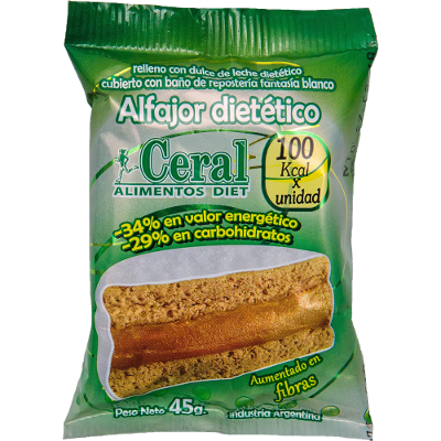 ALFAJOR CHOCOLATE BLANCO LIGHT 45GR CERAL
