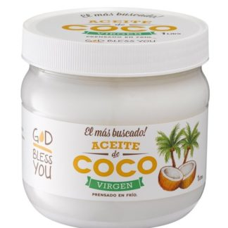 ACEITE DE COCO VIRGEN 1 LITRO GOD BLESS YOU