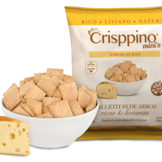 CRACKERS DE ARROZ SABOR QUESO 50GR CRISPPINO