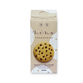GALLETAS SABOR VAINILLA CON CHIPS DE CHOCOLATE 120 gr. NINA