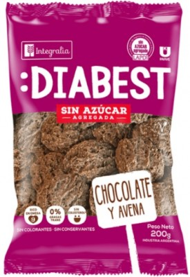 GALLETITAS DIABEST DE CHOCOLATE Y AVENA 200GR INTEGRALIA